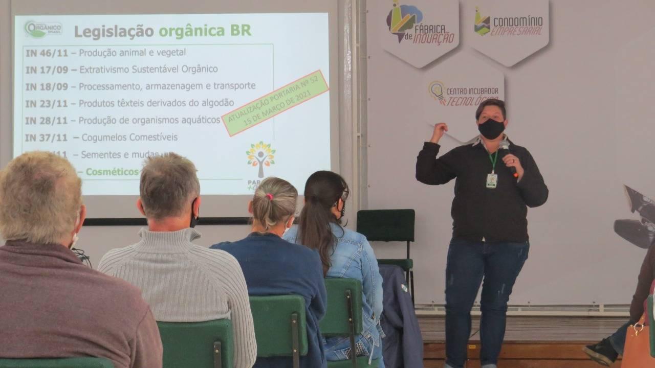 Formação continuada para produtores orgânicos é realizada na Agrotec
