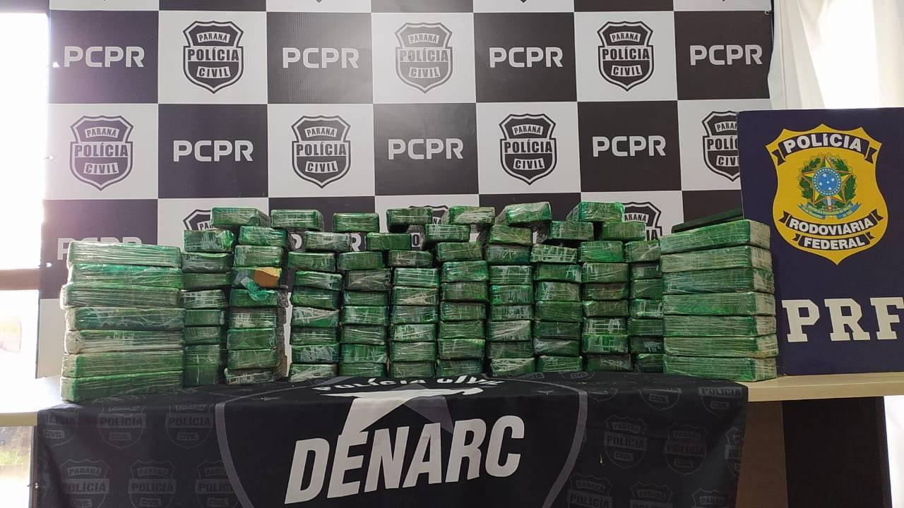 Denarc Cascavel apreende 103 quilos de pasta base de cocaína na BR-369