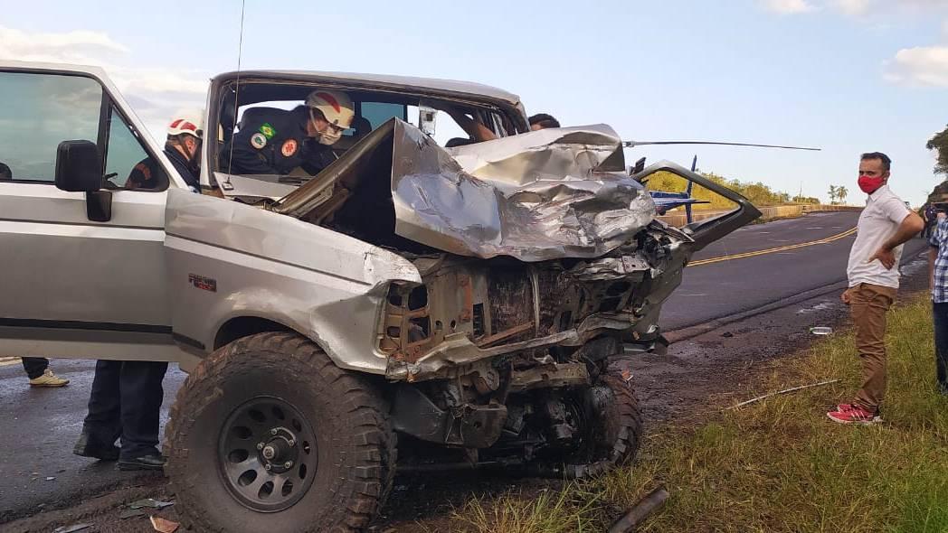 Aeromédico do Consamu é mobilizado para grave acidente de trânsito na BR-163