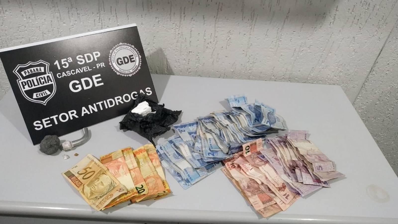 GDE: apreende drogas e dinheiro no Bairro Cancelli