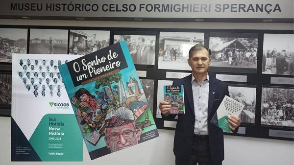 Museu Histórico e Biblioteca Pública recebem doação de livros de Valdir Pacini