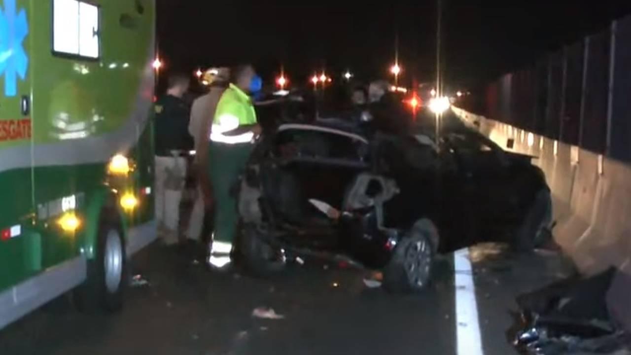 Criança fica gravemente ferida, e motorista foge após acidente na BR-277