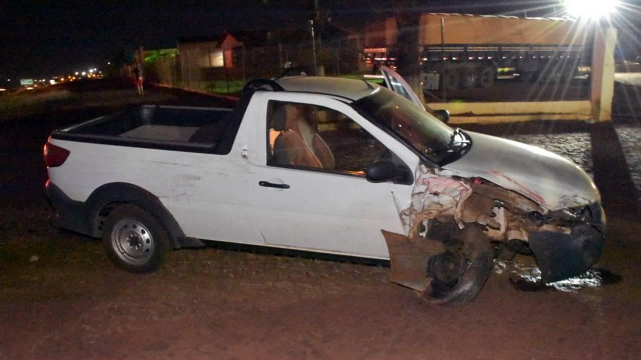 Homem fica ferido após colisão de trânsito na BR-369