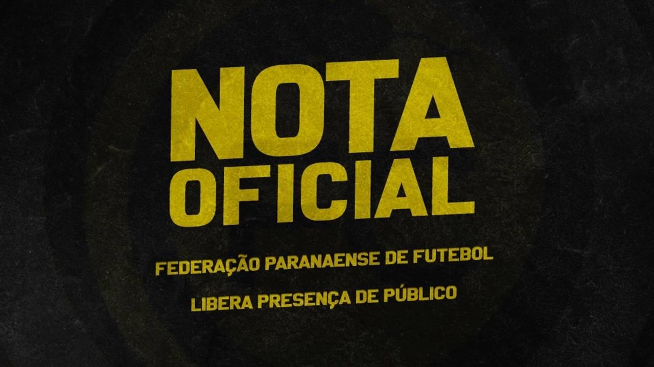 FPF libera presença de público e torcedor poderá assistir ao jogo entre FC Cascavel x Londrina