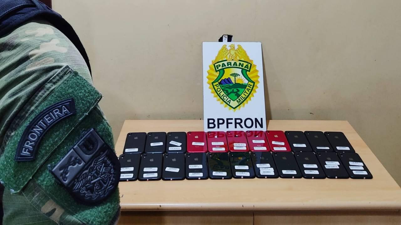 BPFRON apreende estimulantes e celulares contrabandeados em ônibus em Cascavel
