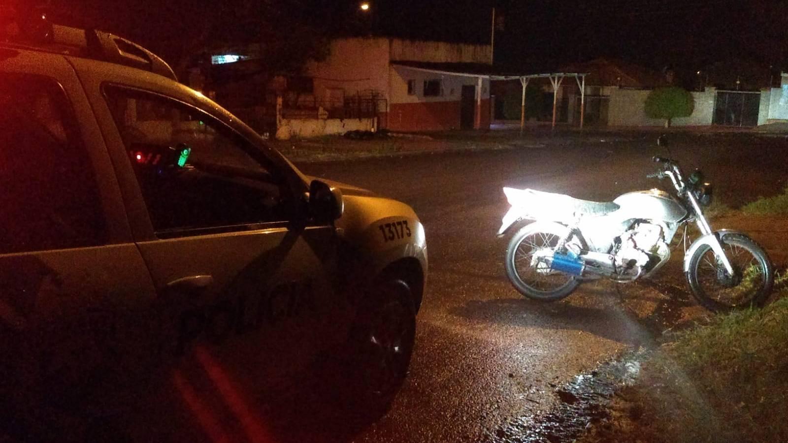 Polícia Militar recupera motocicleta furtada no bairro São Cristóvão