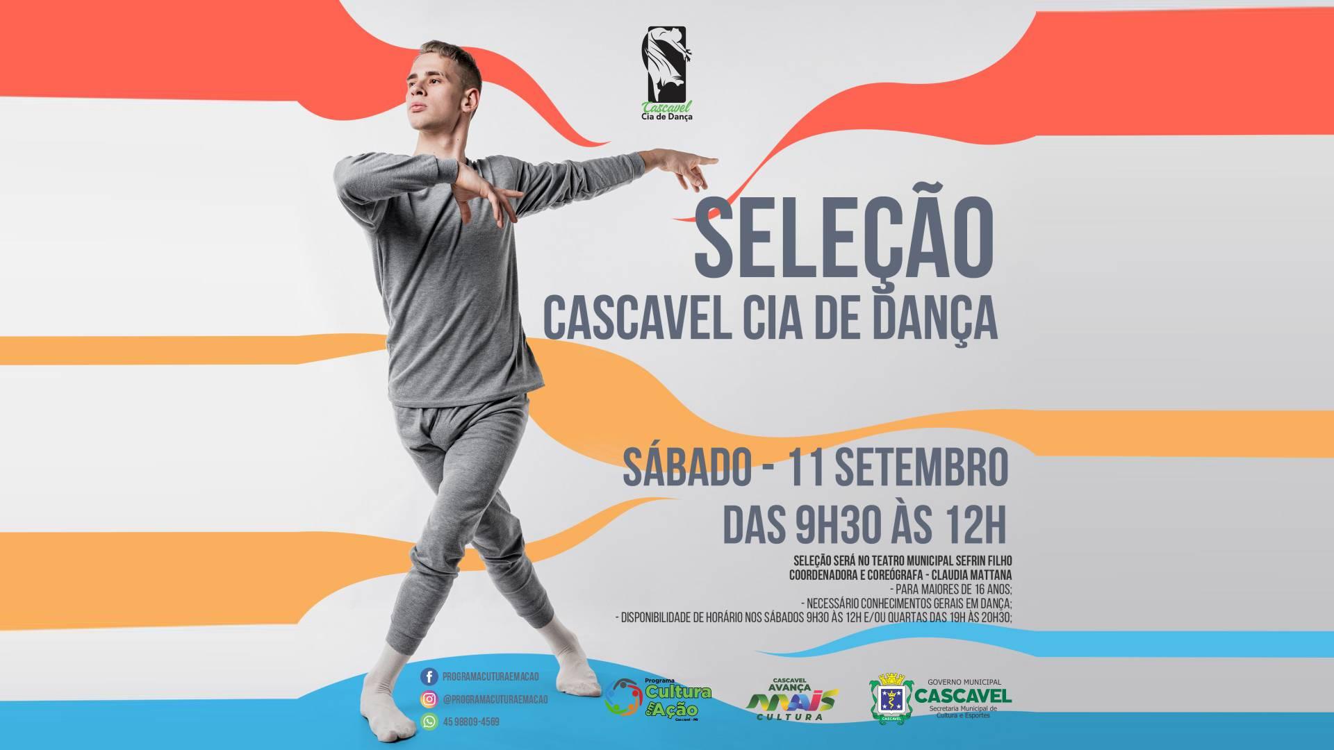 Cia de Dança de Cascavel promove seleção de dançarinos