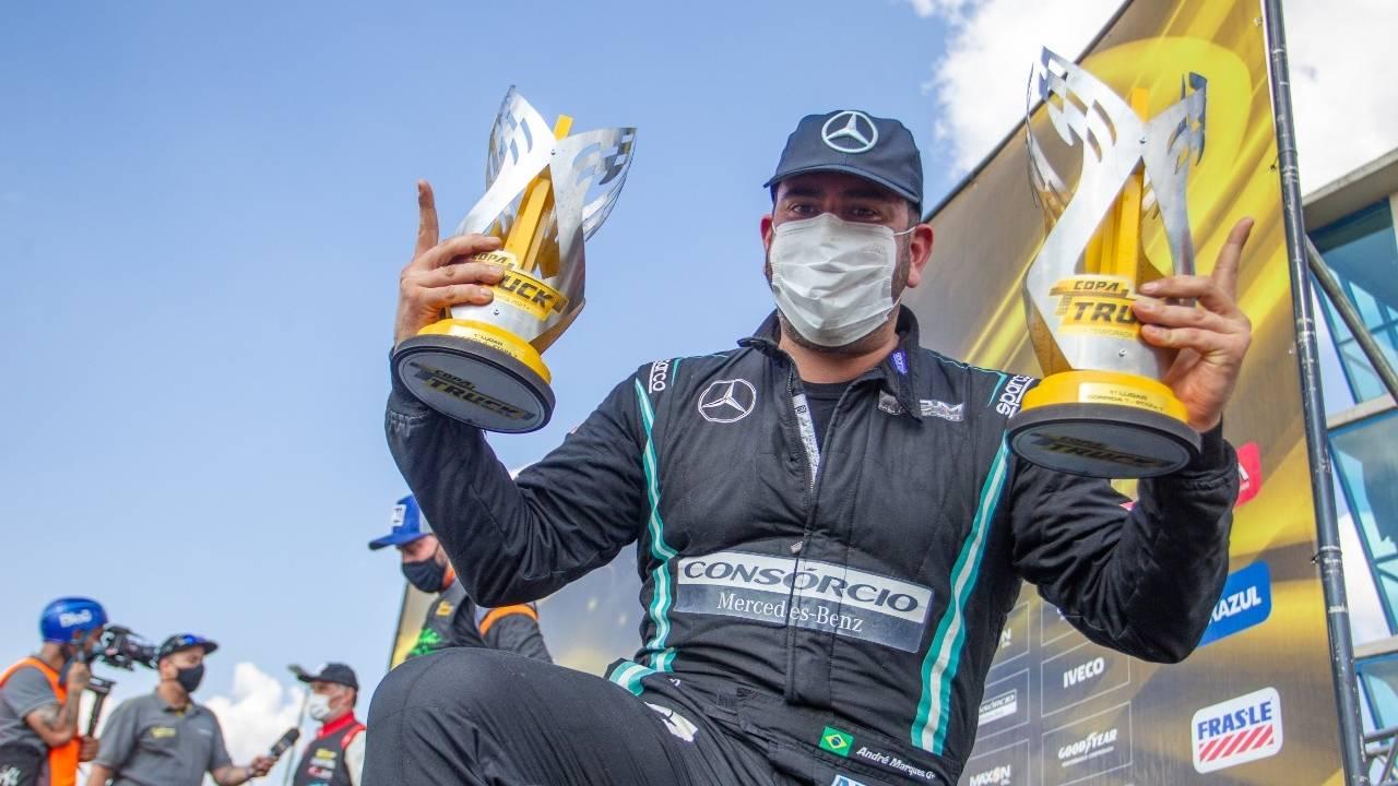 Copa Truck: André Marques dá o troco e vence as duas corridas em Curitiba e vira líder
