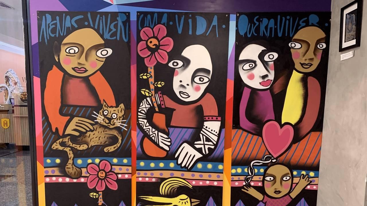 Exposição de grafiteiro retrata animais silvestres e pode ser visitada em shopping de Cascavel