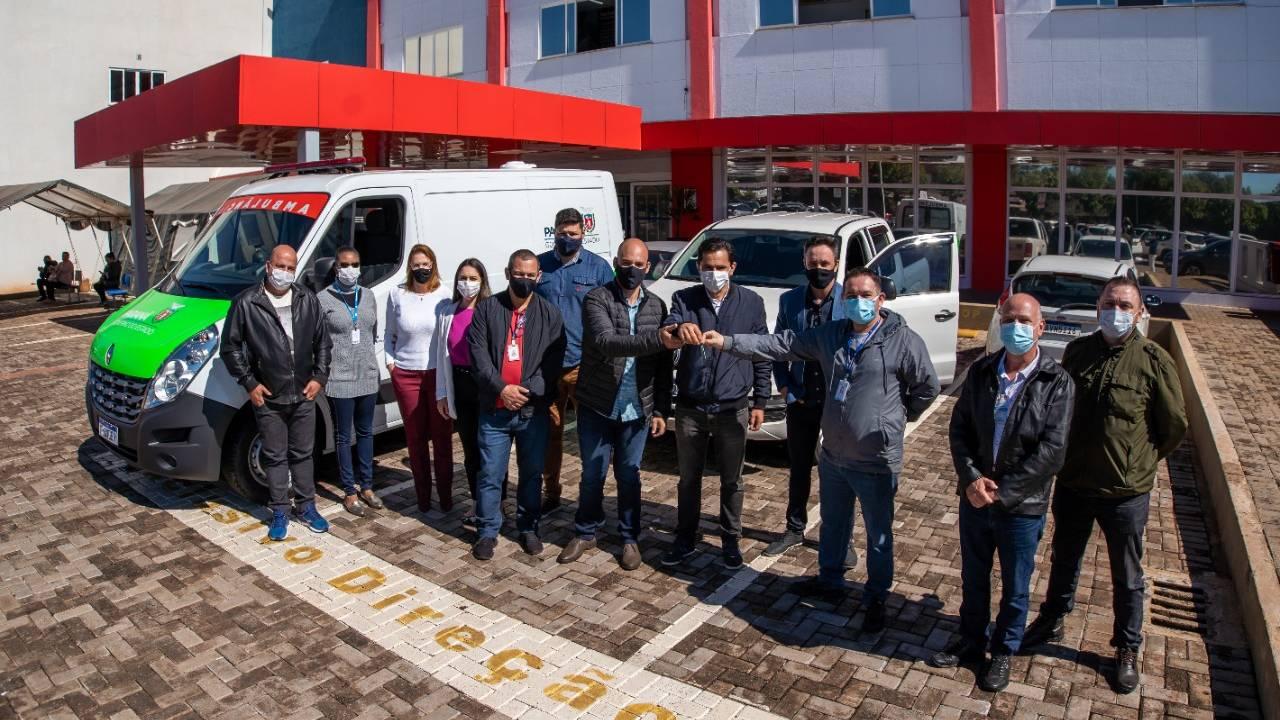 HU de Cascavel recebe ambulância nova com emenda de Pacheco