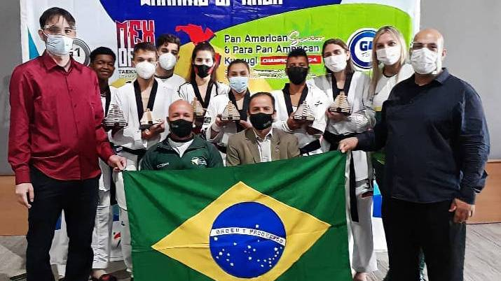 Com tempero paranaense, seleção ganha sete medalhas no Pan-Americano de Parataekwondo