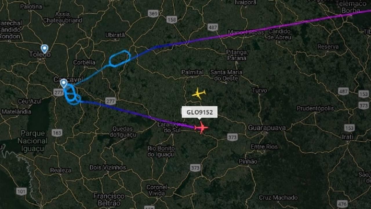 Falha de comunicação entre companhia aérea e aeroporto atrasa pouso de voo da Gol em Cascavel