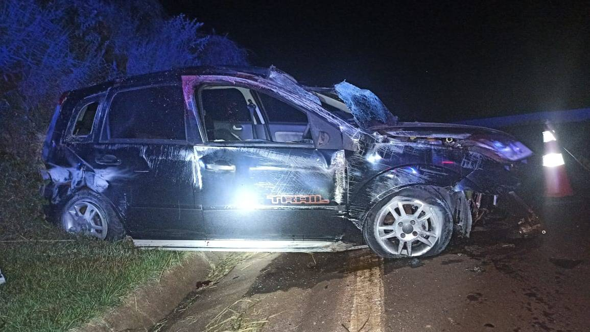 Jovem morre após capotamento nas proximidades do contorno oeste na BR 467 em Cascavel