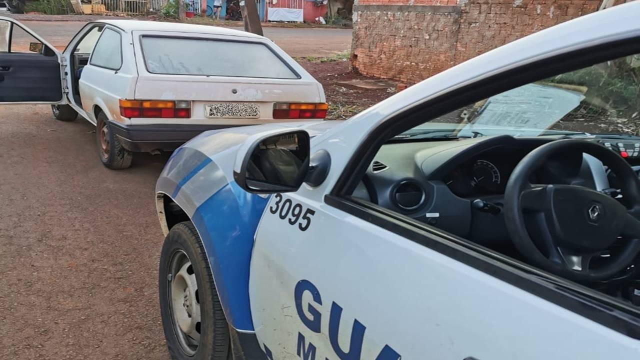 Guarda Municipal recupera veículo furtado em Anahy no Bairro Floresta