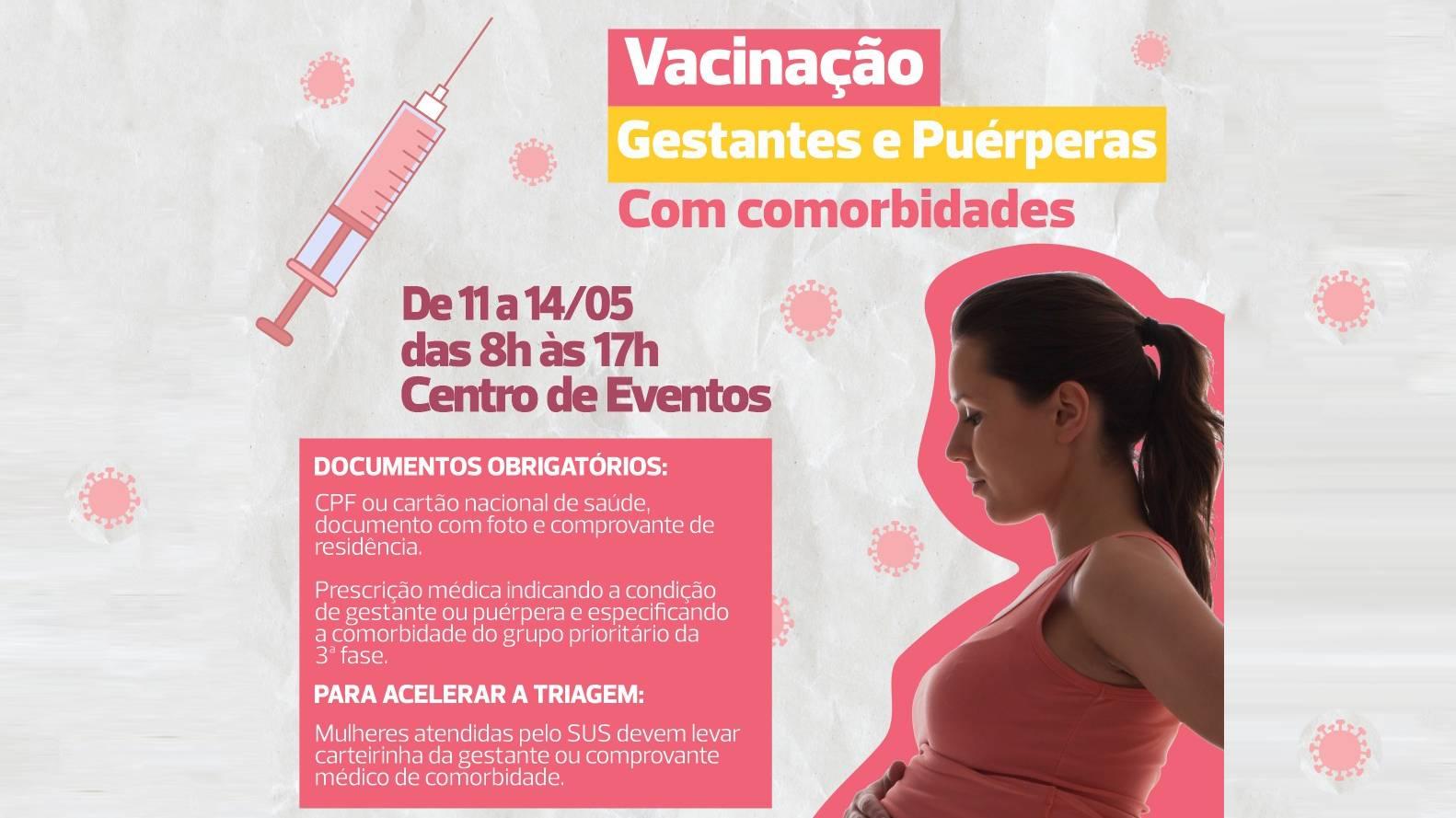 Covid-19: começa nesta terça (11) a vacinação de grávidas e puérperas com doenças preexistentes