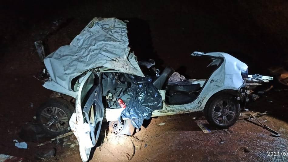 Duas mulheres morrem em batida frontal entre carro e ônibus na BR-369