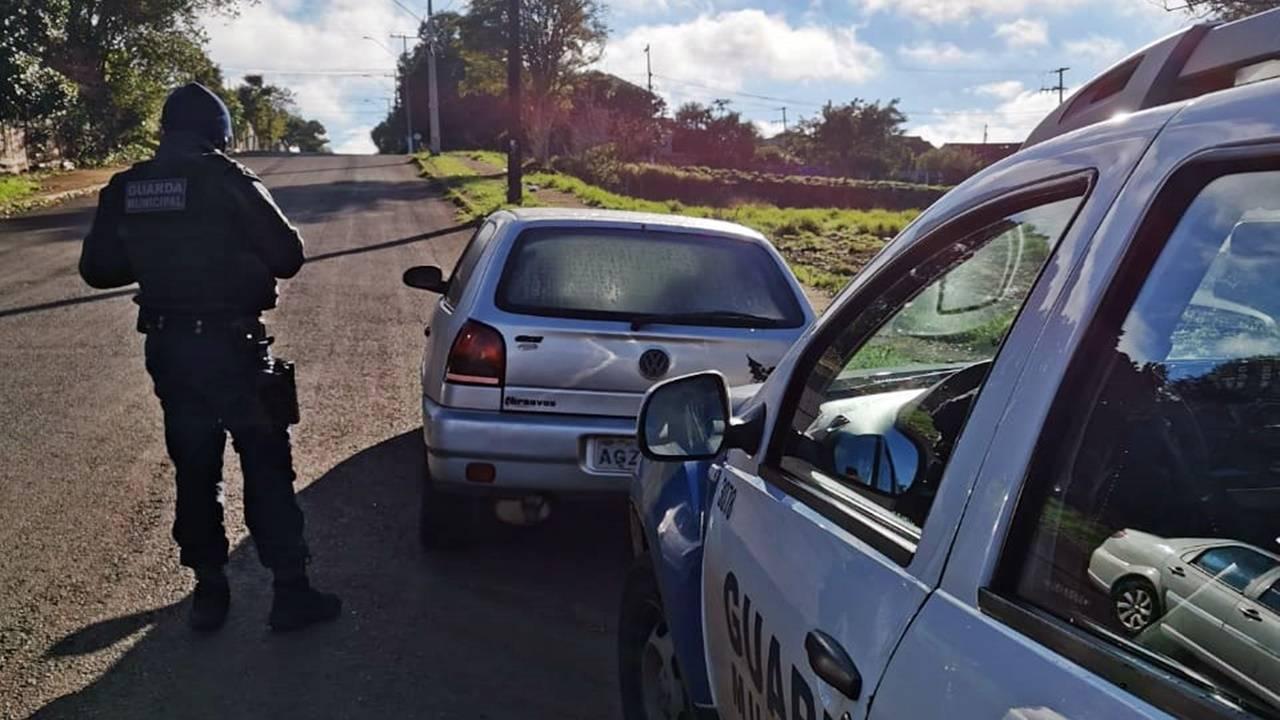 Guarda Municipal recupera Gol com alerta de furto no Bairro Tarumã