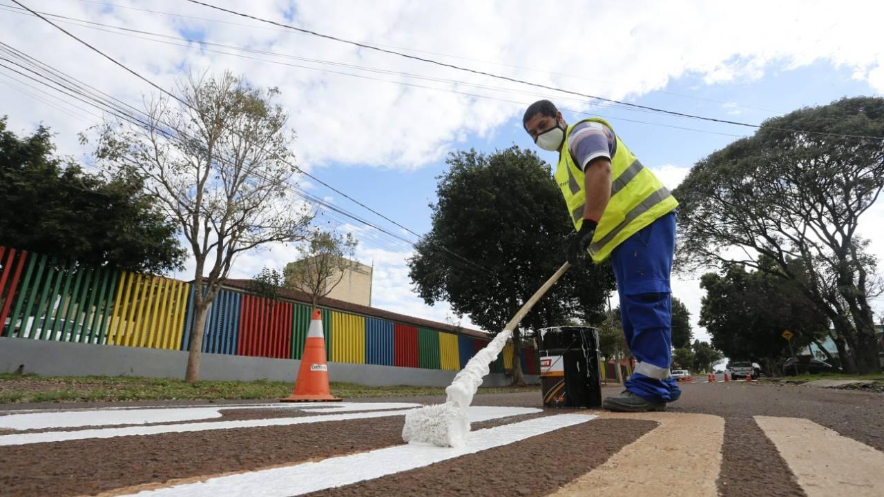 Transitar investe mais de R$ 3 milhões em sinalização horizontal para atender demandas da população
