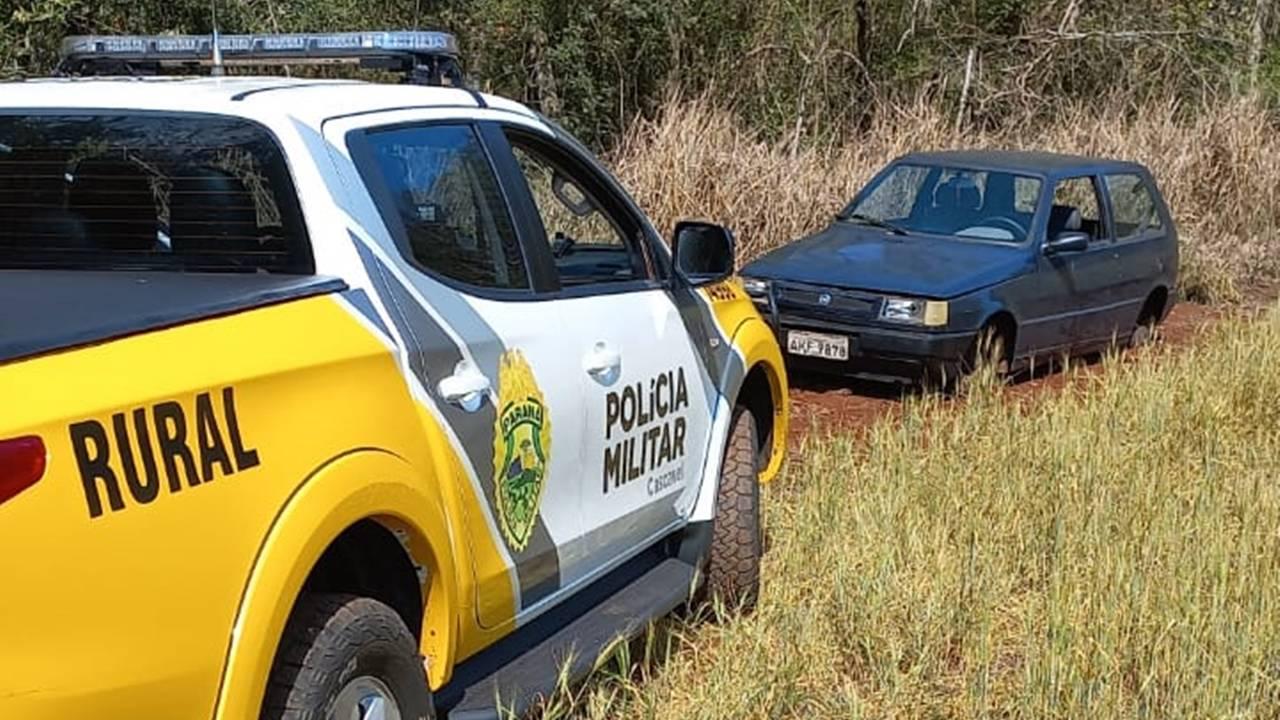 Polícia Militar recupera Fiat/Uno Mille Fire furtado no contorno oeste em Cascavel