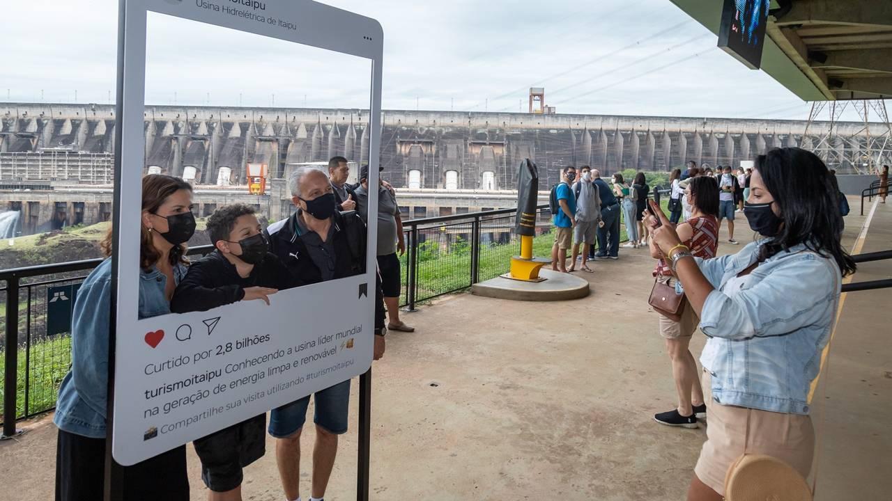 Itaipu tem melhor dia de visitação desde o começo da pandemia