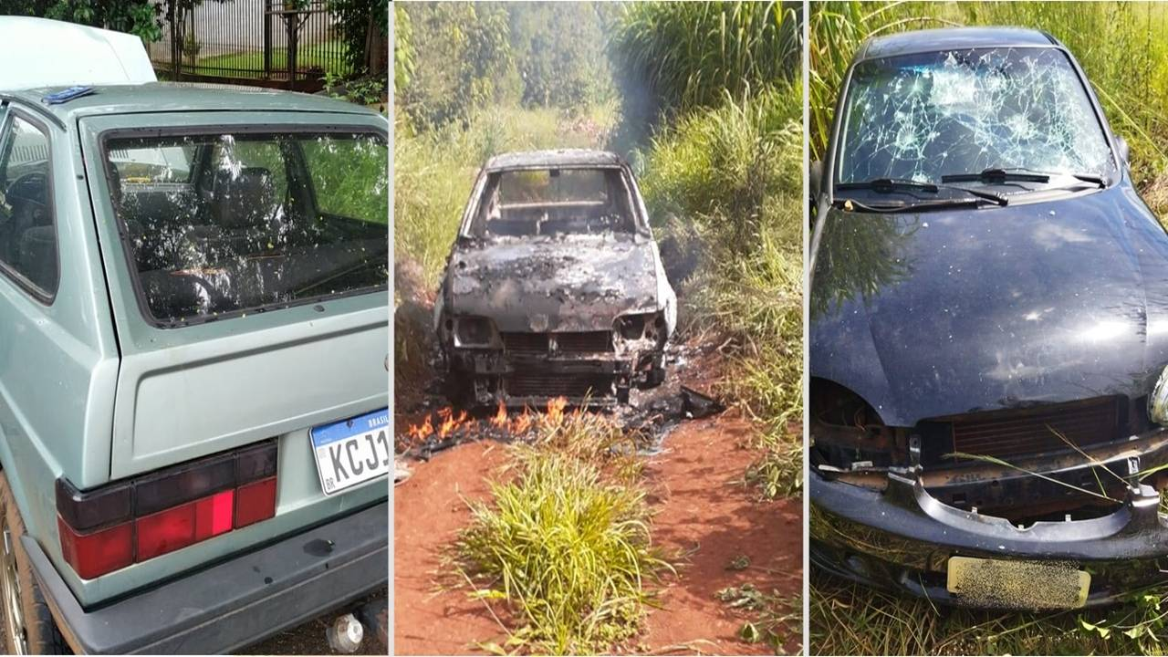 Guarda Municipal recupera três veículos furtados em menos de 24 horas