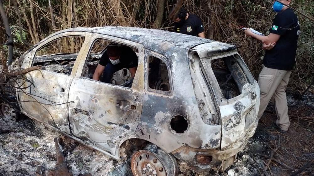 Homem é encontrado carbonizado dentro do veículo em Serranópolis do Iguaçu