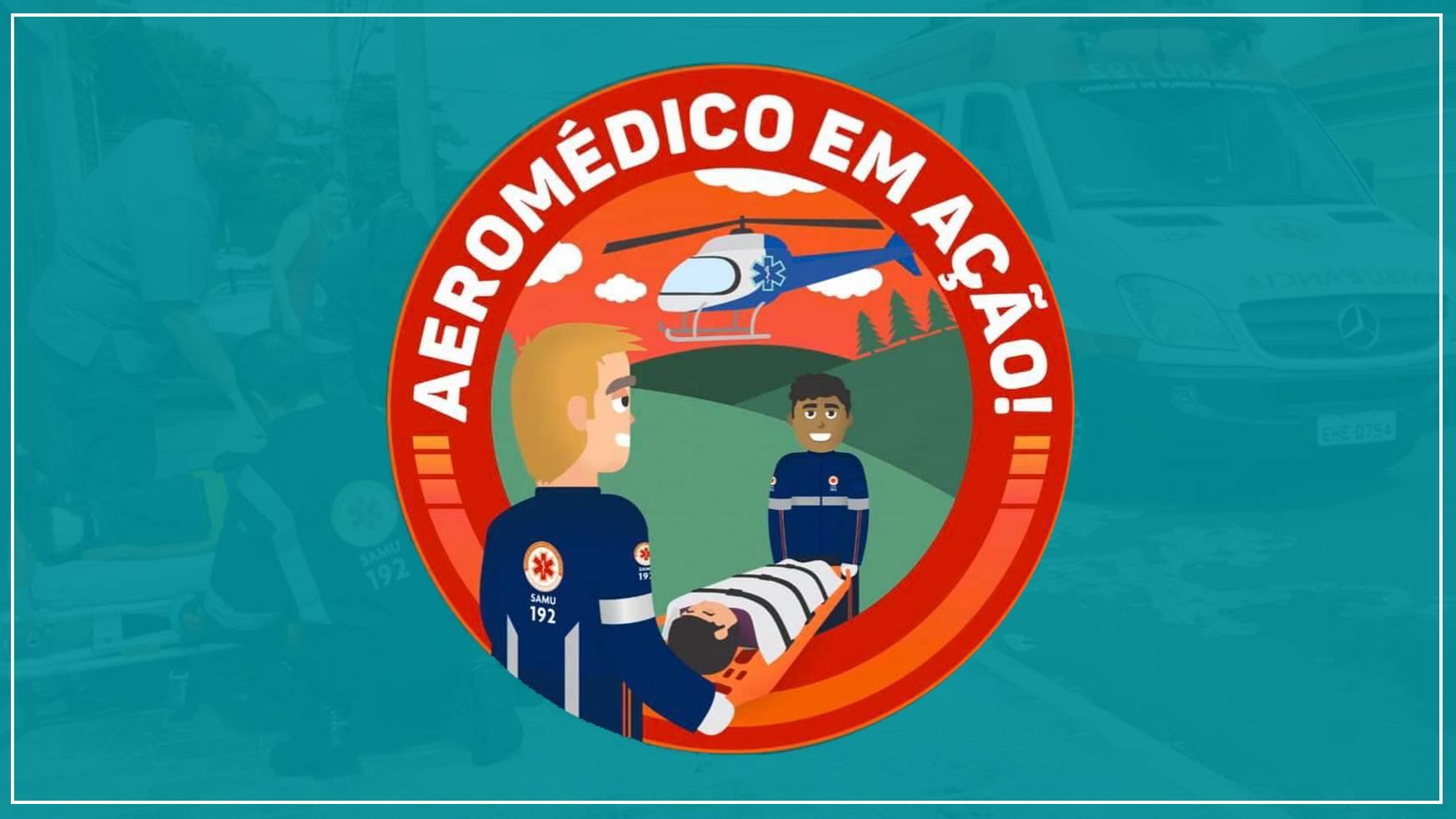 Aeromédico atende vítima de acidente de trabalho em aviário em Cascavel