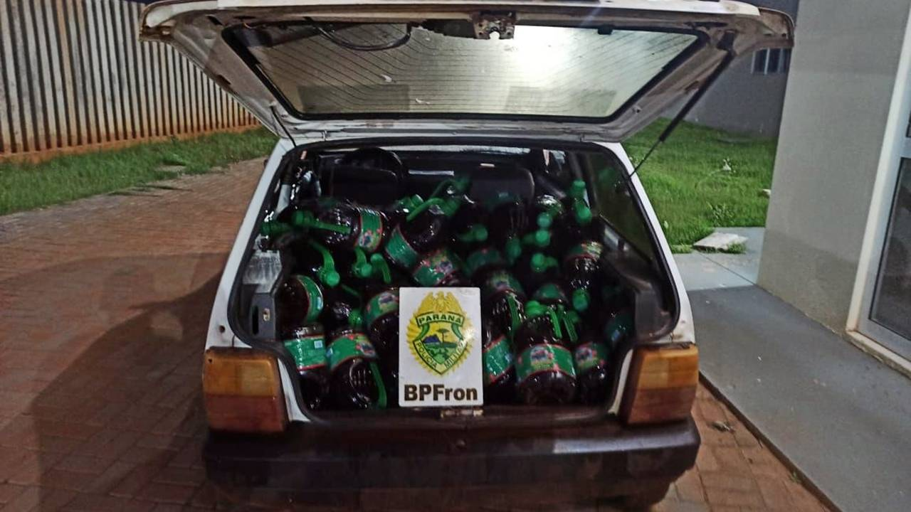 Bpfron apreende produtos estrangeiros  em Santo Antônio do Sudoeste-PR