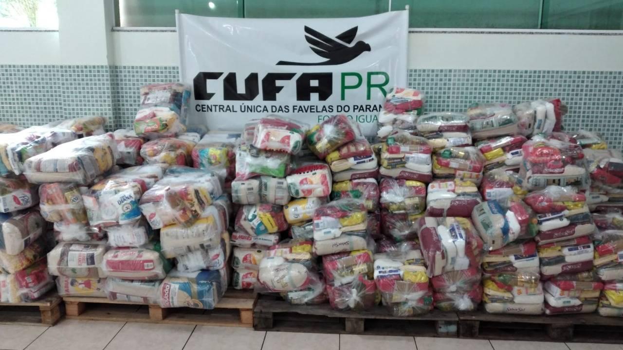 Cufa Foz recebe oito toneladas de alimentos para famílias em situação de vulnerabilidade