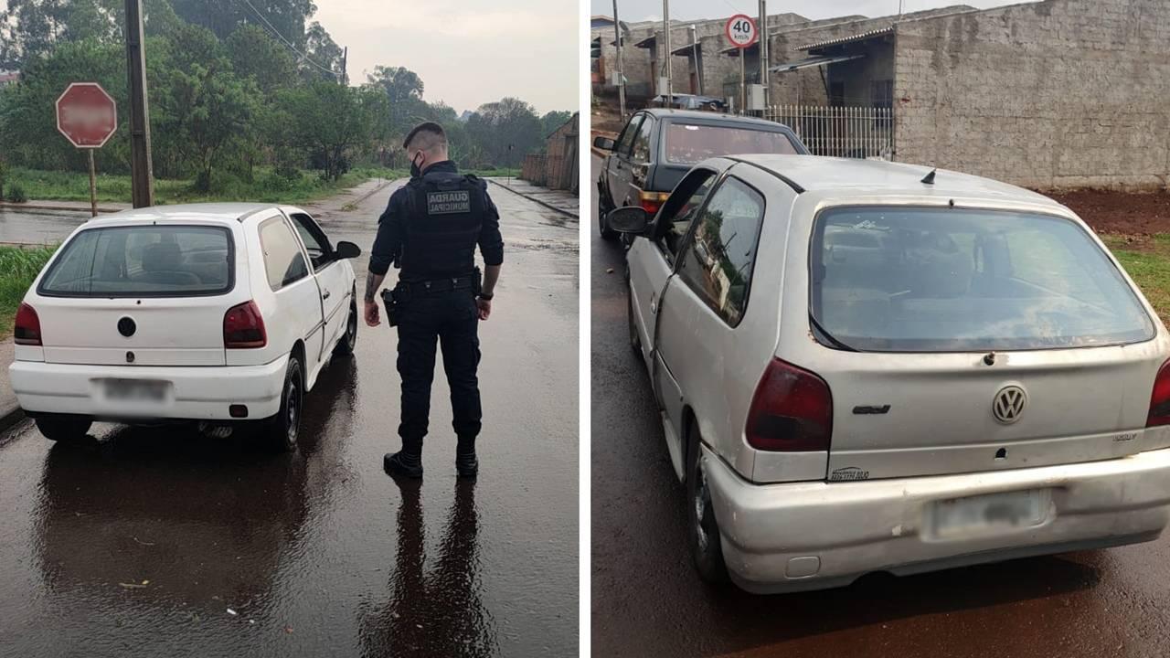 Guarda Municipal recupera dois automóveis furtados na Região Norte