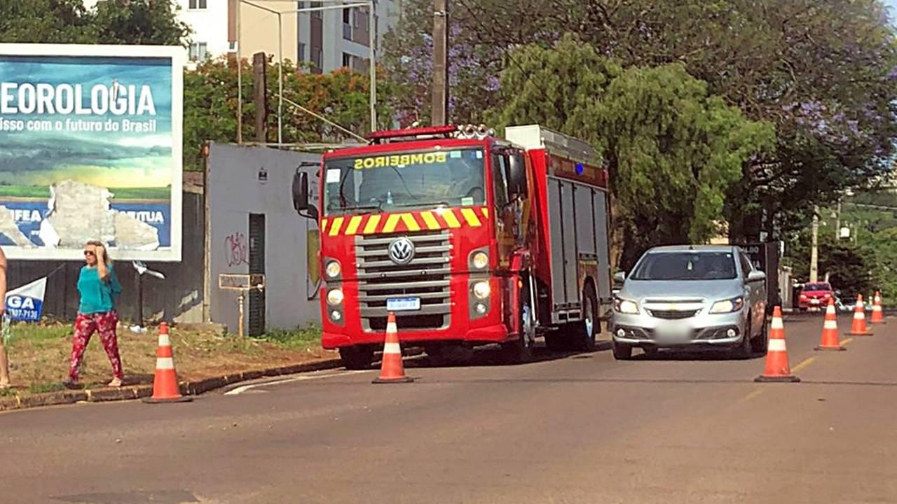 Corpo de Bombeiros é acionado após arvore apresentar risco de queda na Rua Manaus