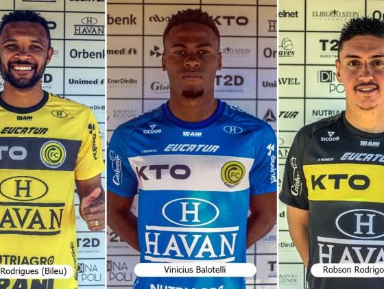 Com foco na Série C do Campeonato Brasileiro, FC Cascavel anuncia a contratação de mais três atletas