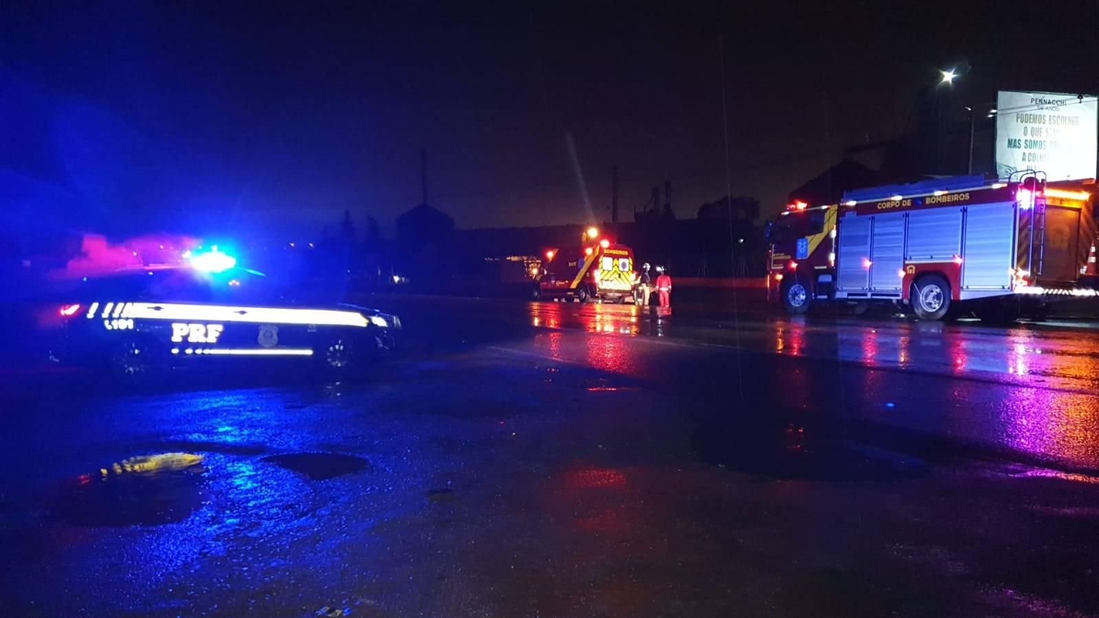 Motociclista fica ferido após sofrer queda de moto na BR-369 em Cascavel