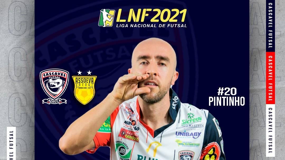 Cascavel Futsal recebe a Assoeva no Ginásio da Neva neste sábado pela Liga Nacional