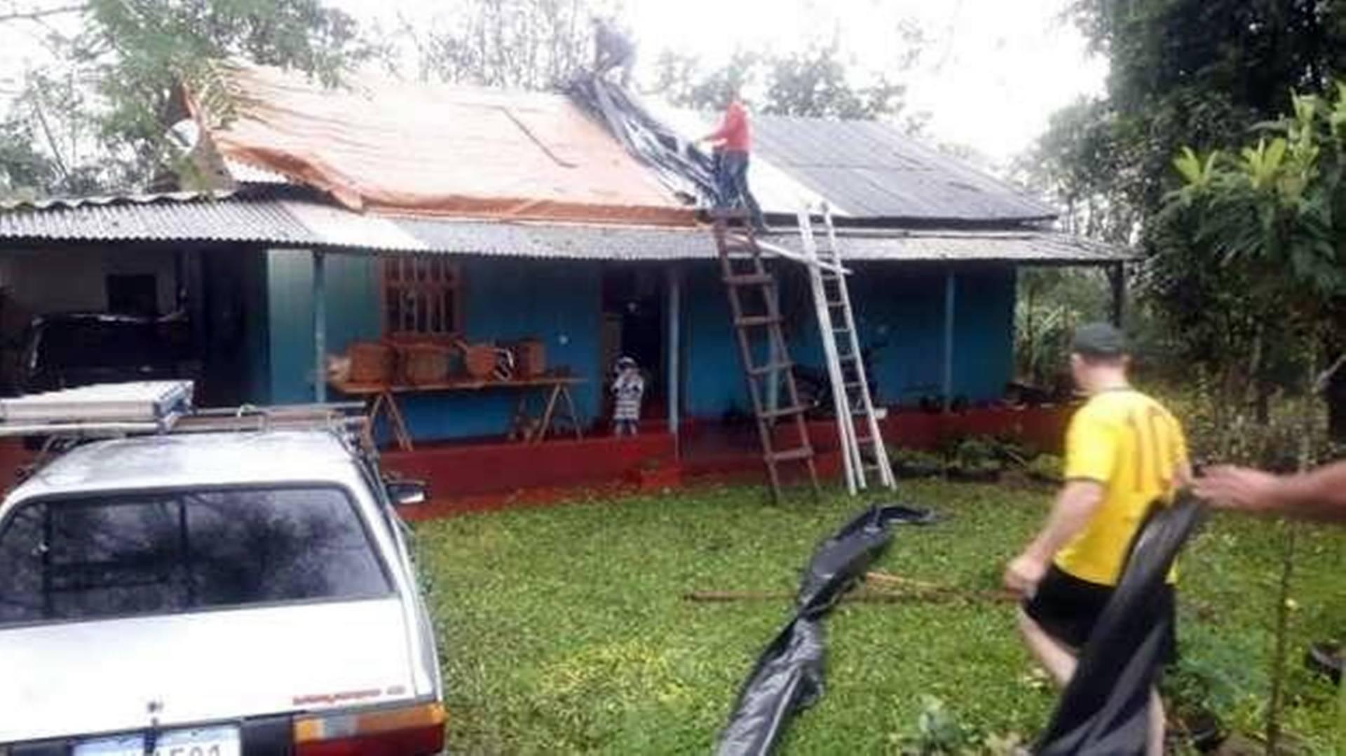 Duzentas casas são danificadas por temporal em Nova Prata do Iguaçu