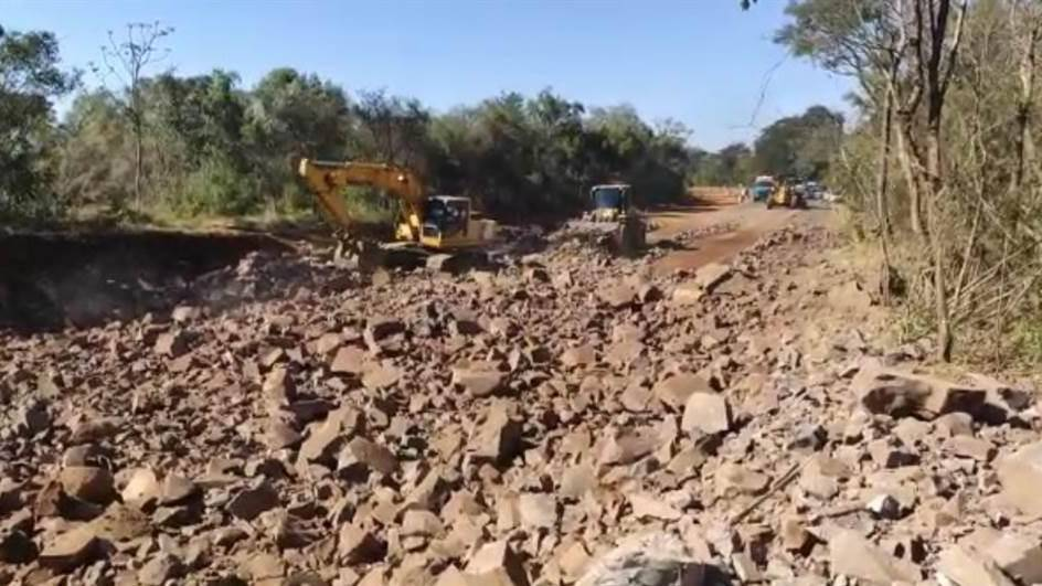 Programada novas detonações de rocha na BR-277 em Guaraniaçu