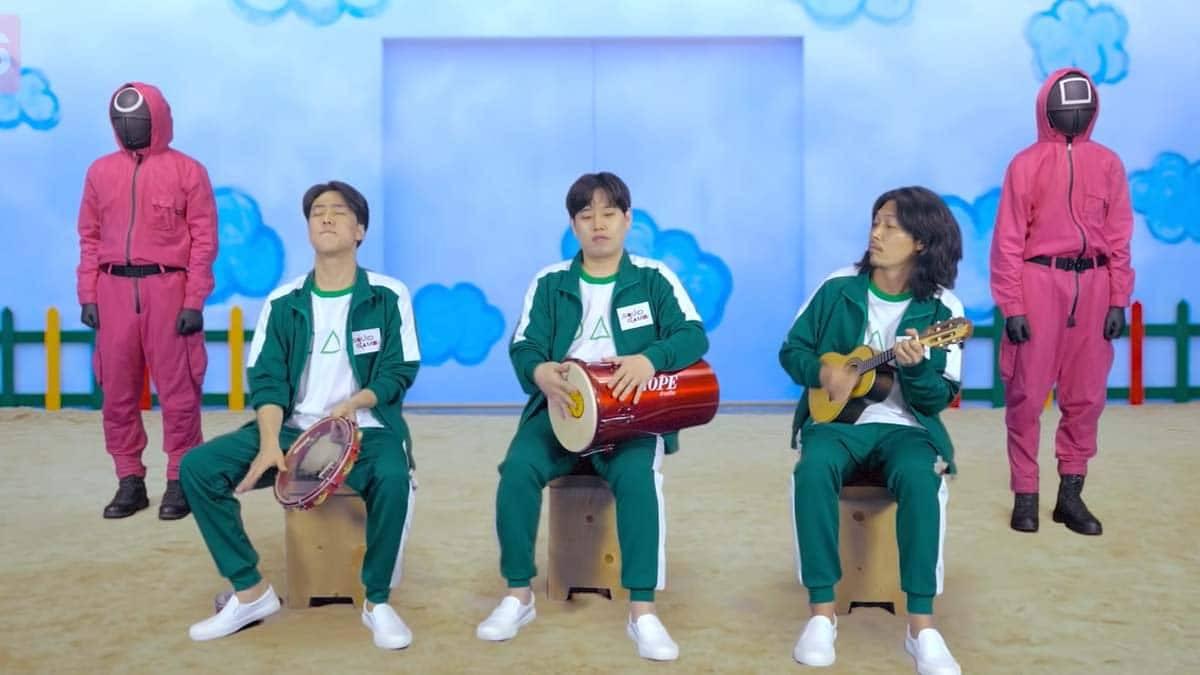 Grupo coreano de pagode celebra sucesso de Round 6 no Brasil com cover de Péricles