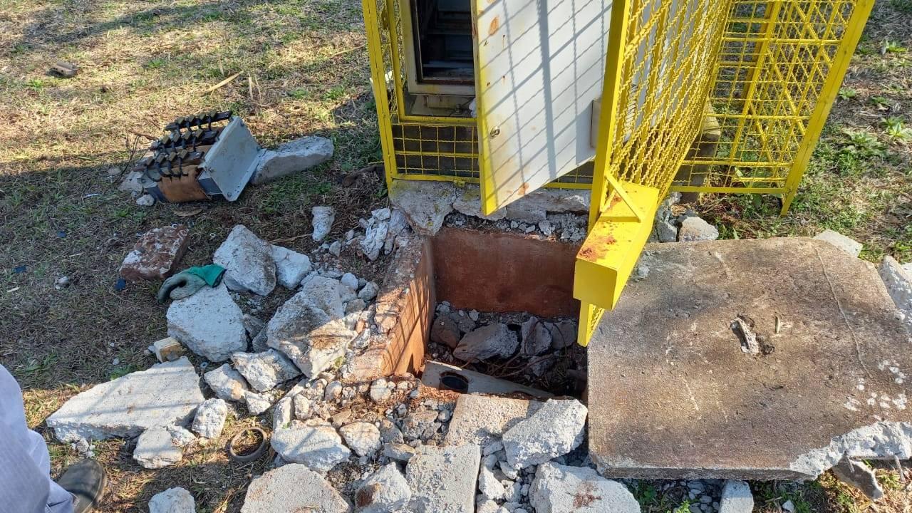 Vândalos furtam e danificam instalações da Sanepar em Cascavel