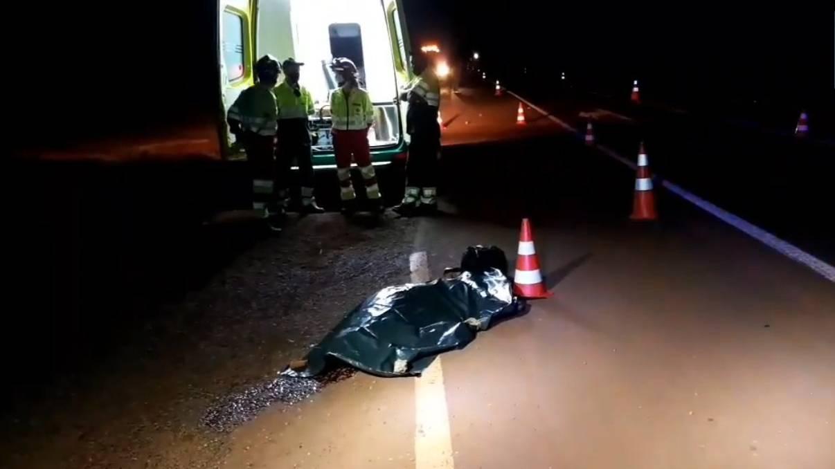 Homem de 62 anos morre após ser atropelado na BR-277 em em Santa Tereza do Oeste