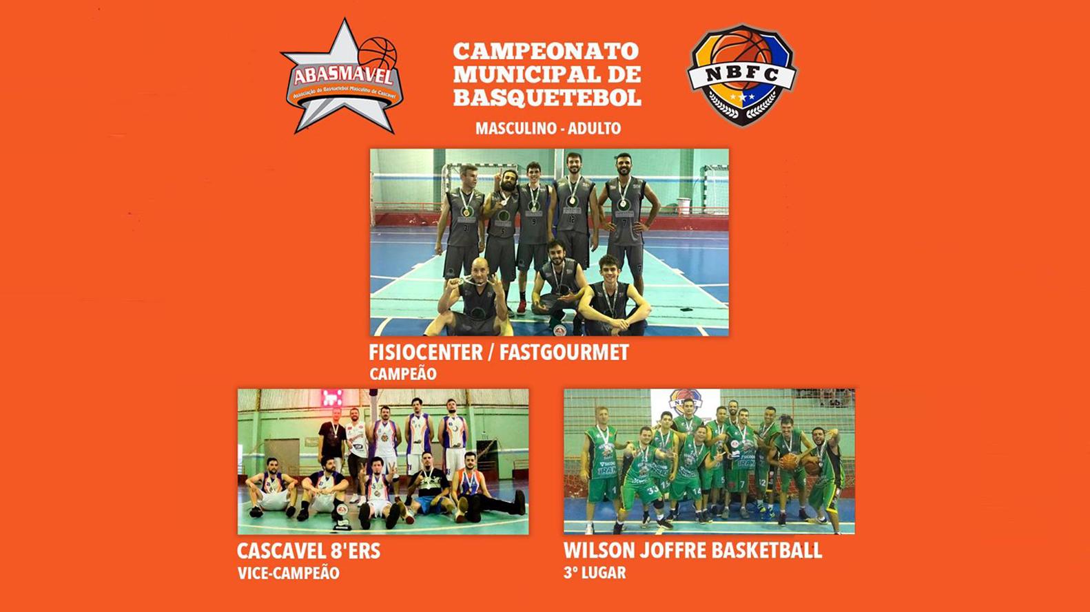 Fisiocenter/Fastgourmet vence Cascavel8'ERS e fatura o título do Campeonato Municipal de Basquetebol