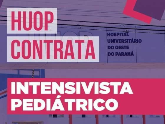 HU está com chamamento público aberto para contratação de intensivista pediátrico