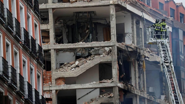 Forte explosão destrói fachada de edifício no centro de Madrid
