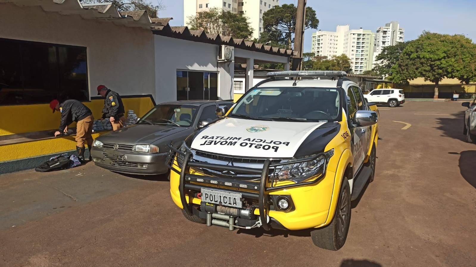 Policia Rodoviária Estadual apreende veiculo com medicamentos e anabolizantes na PR-239