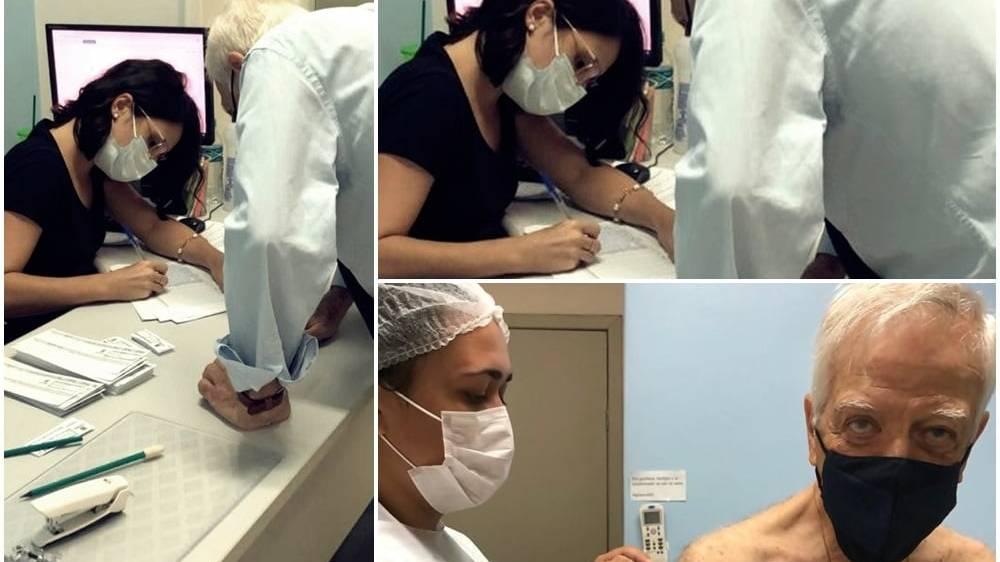 Presidente da Associação Médica de Cascavel toma vacina contra a Covid-19