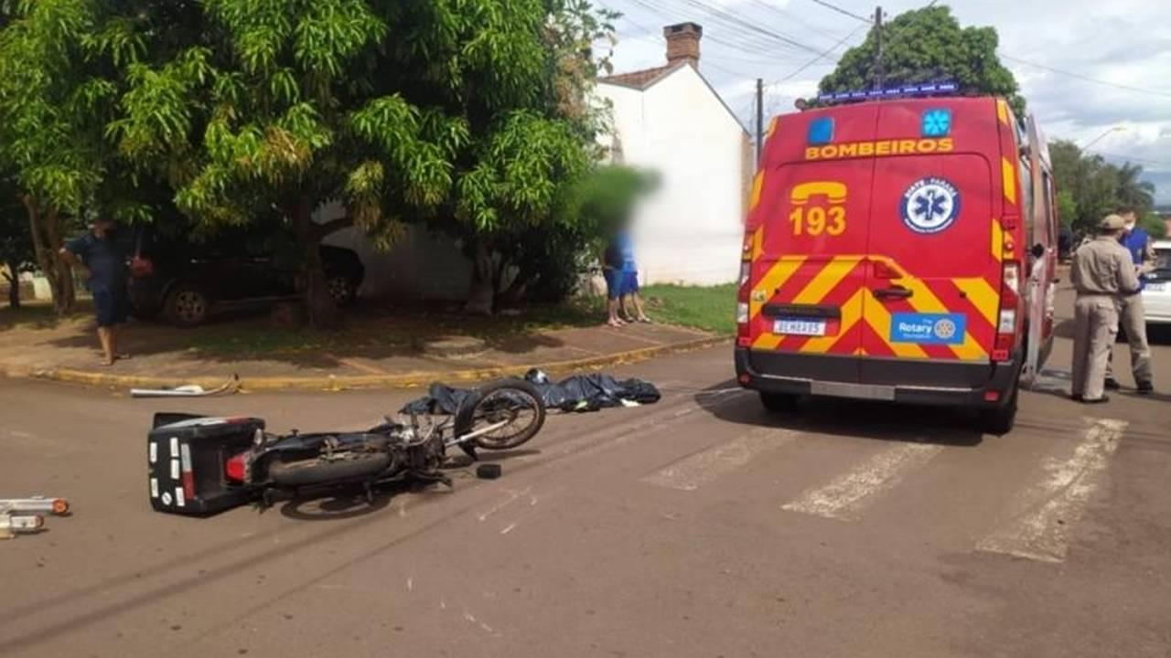 Motociclista morre após grave acidente no Jardim Pancera em Toledo