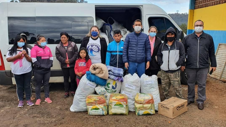Assistência Social e Provopar fazem doações à comunidade indígena