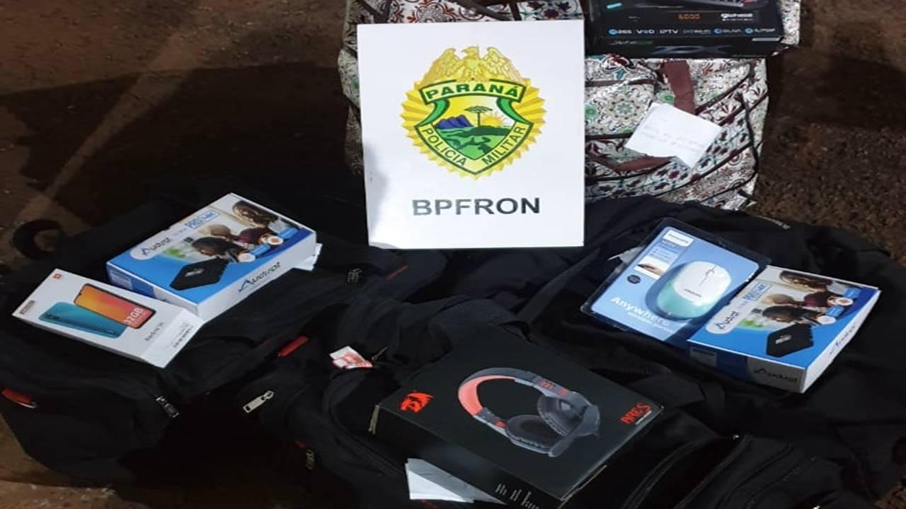 BPFRON aprende produtos de origem estrangeira durante Operação Hórus em Cascavel