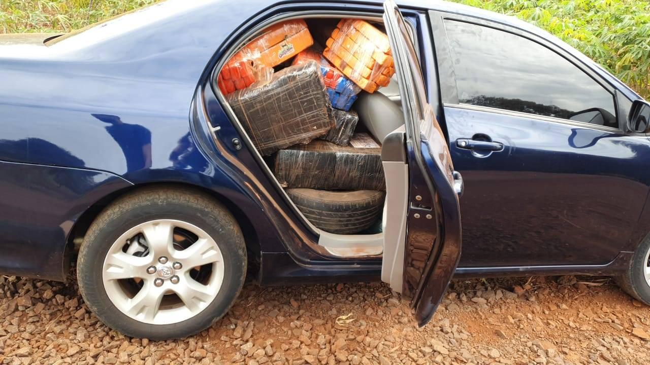 Denarc Cascavel realiza apreensão de 700 quilos de maconha dentro de automóvel na BR-369