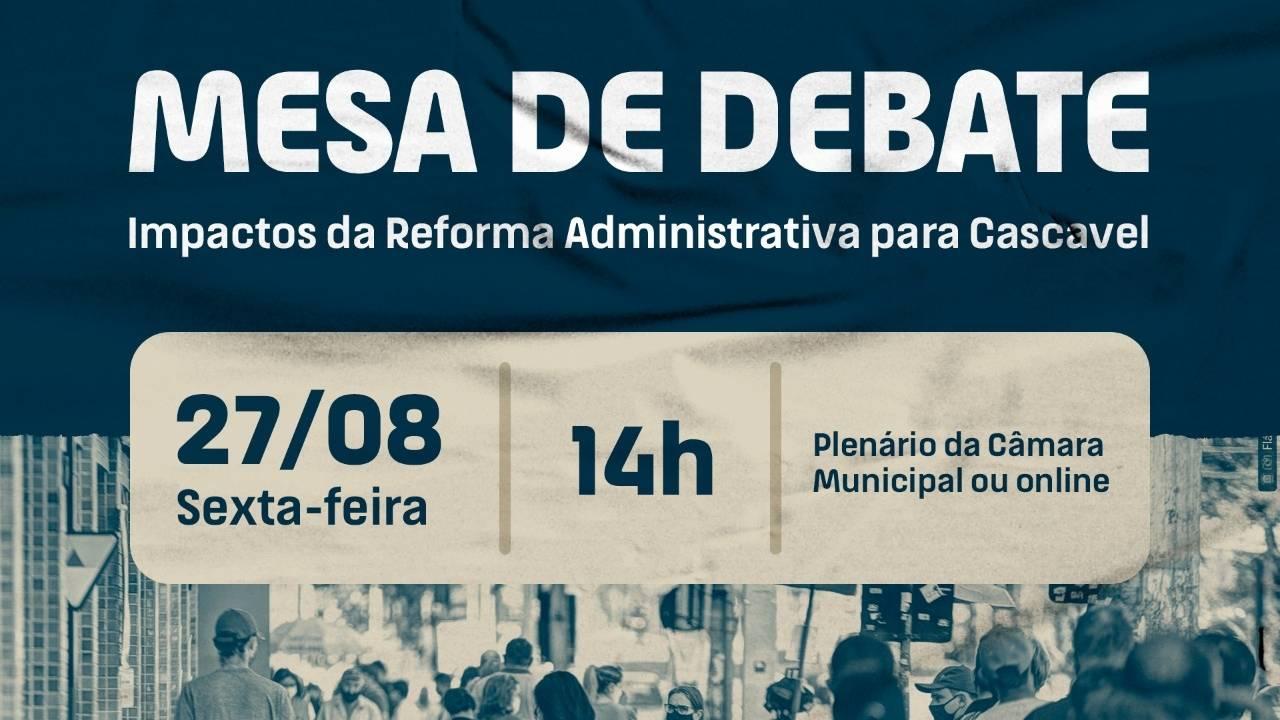 Câmara terá debate na sexta sobre impactos da Reforma Administrativa