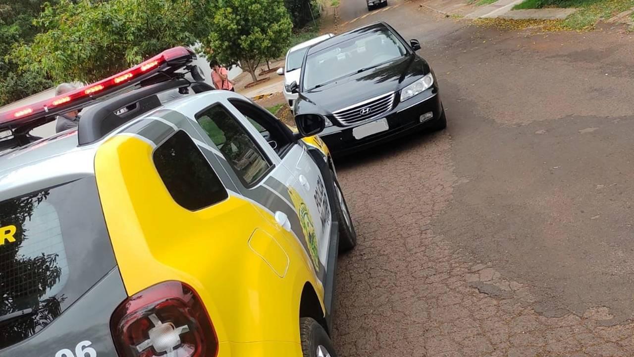 Polícia Militar recupera Azera minutos após ser furtado no Bairro Cancelli